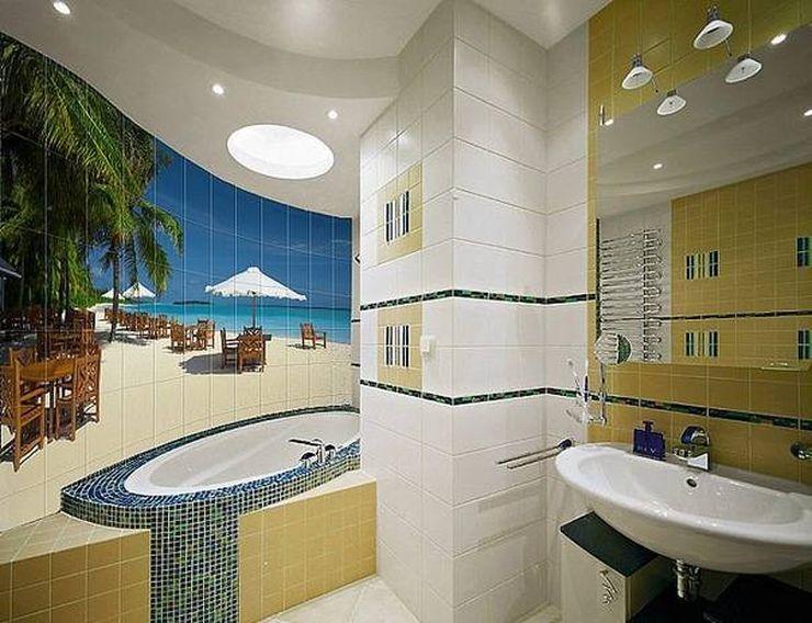 Дизайн ванной комнаты 6 кв м с фотопечатью