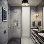 Дизайн ванной комнаты 6 кв м в стиле классика