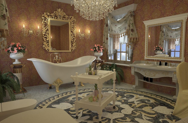 Дизайн ванной комнаты ампир