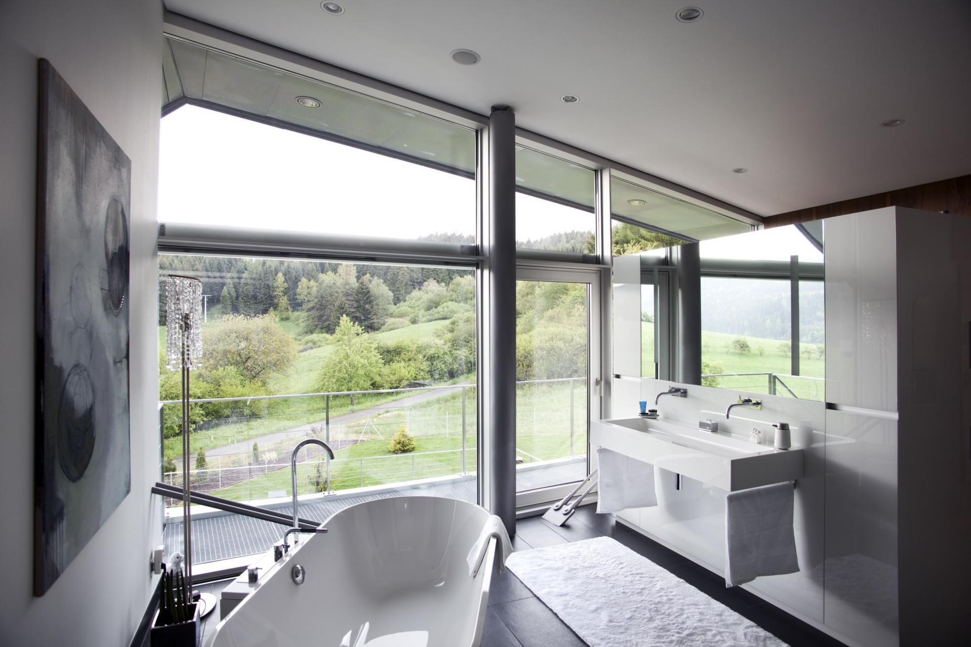 Дизайн ванной комнаты хайтек
