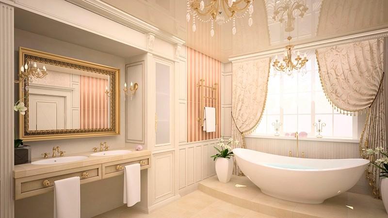 Дизайн ванной комнаты классика