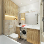 Дизайн ванной комнаты 6 кв м со встроенными шкафами