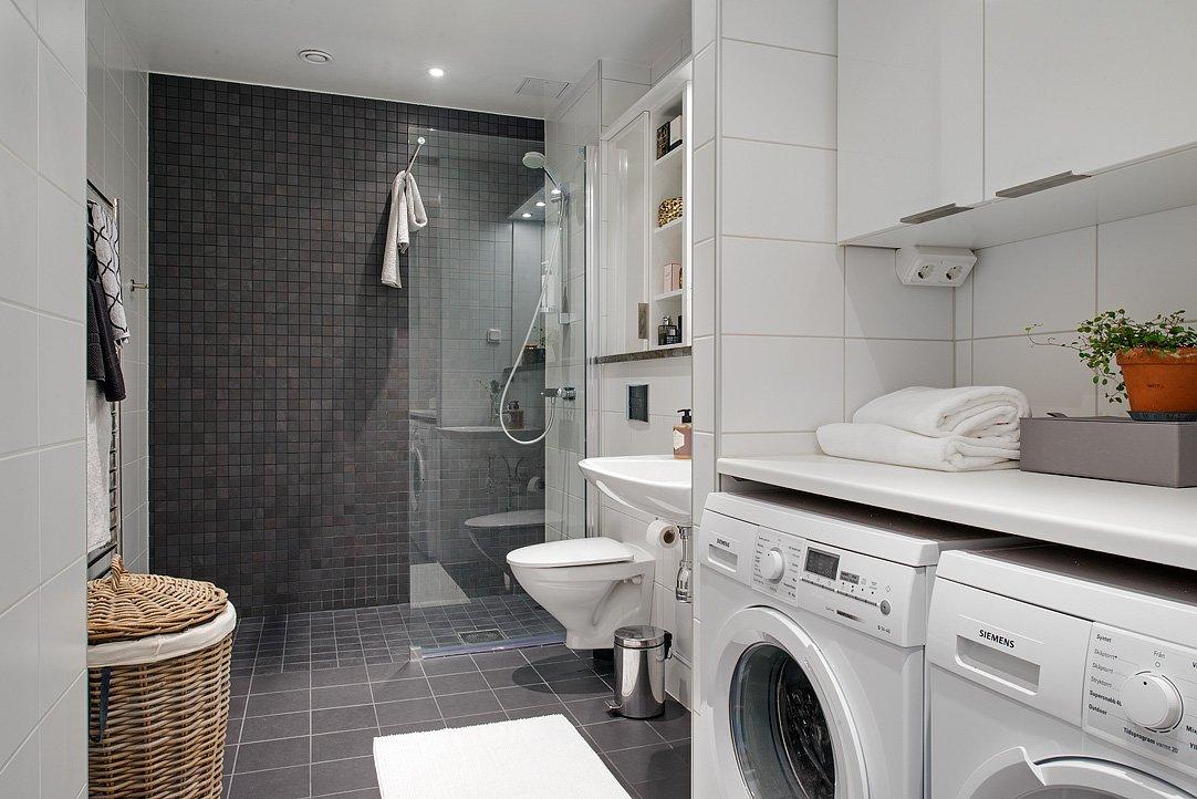 Дизайн ванной комнаты в большом частном доме
