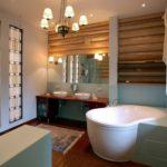Дизайн ванной комнаты в частном доме эклетика