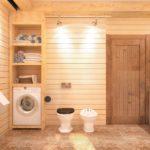 Дизайн ванной комнаты в частном доме евровагонка