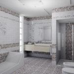 Дизайн ванной комнаты в частном доме кафель под морскую гальку