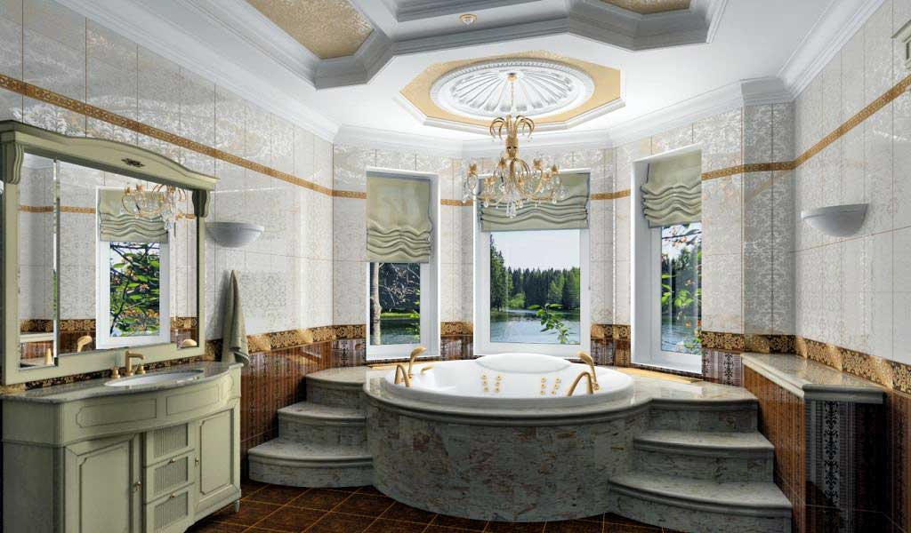 Дизайн ванной комнаты в частном доме привлекательность и удобство