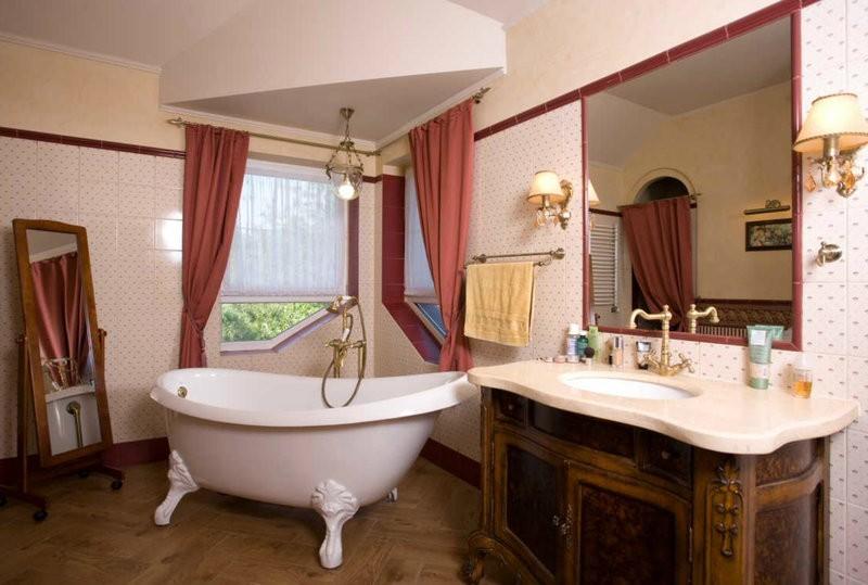 Дизайн ванной комнаты винтаж
