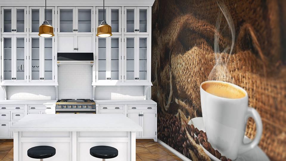 Фотообои в интерьере кухни управляют настроением