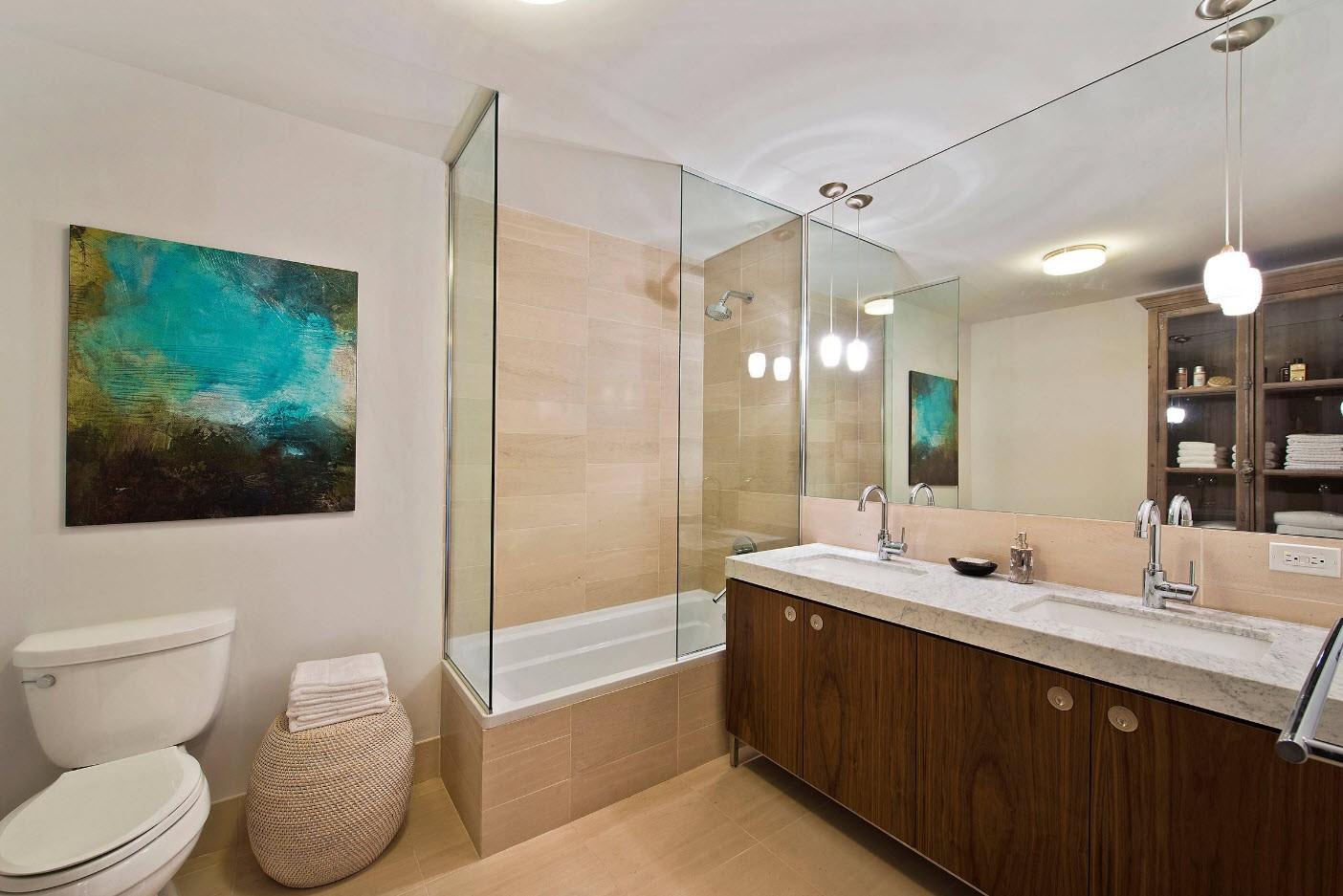 идеи дизайна ванной с туалетом
