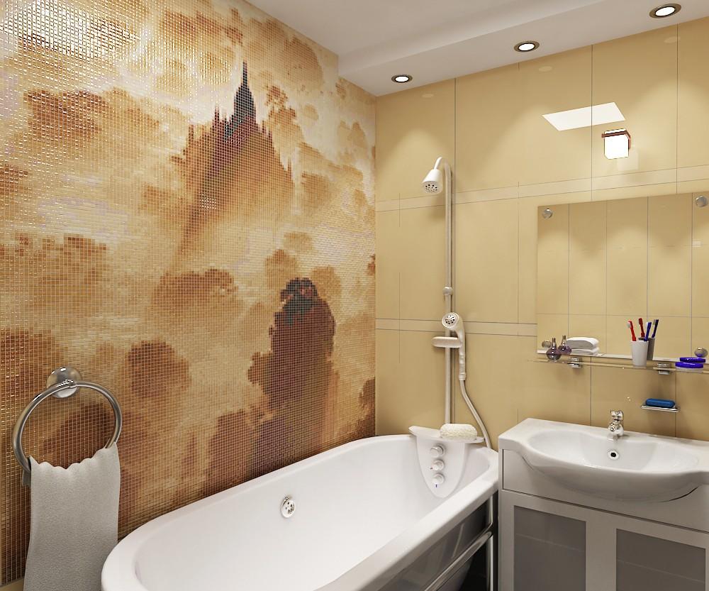 Мозаика для ванной комнаты декоративный пейзаж