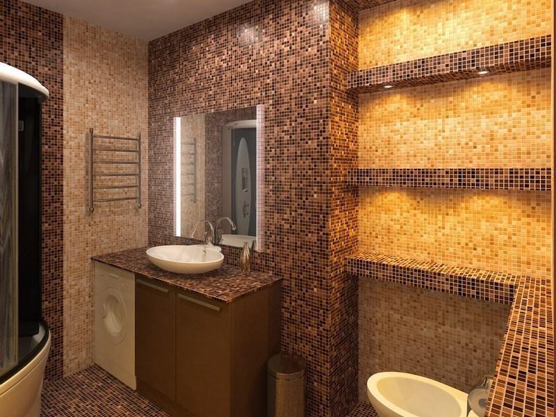 Мозаика для ванной комнаты из керамики