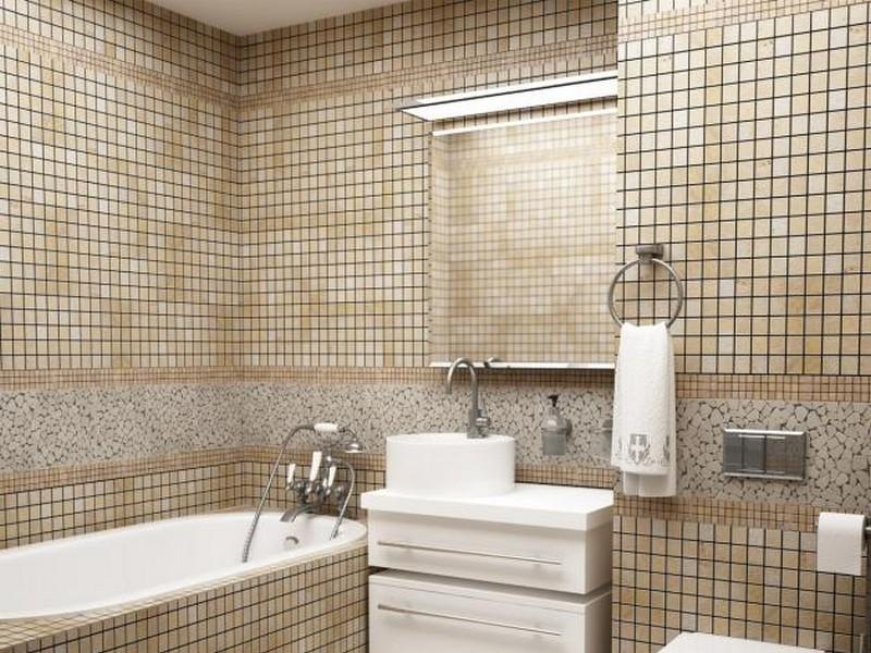 Мозаика для ванной комнаты из натурального камня