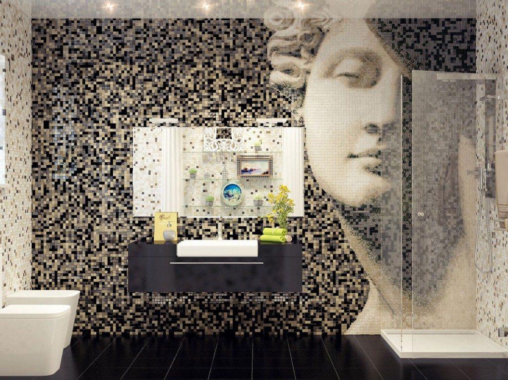 Мозаика для ванной комнаты панно из стекла