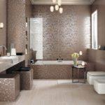 Мозаика в ванной комнате арт-деко цвета какао