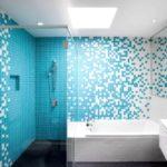 Мозаика в ванной комнате бирюзовый взрыв
