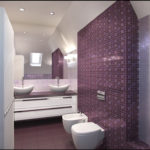Мозаика в ванной комнате фиолетового цвета