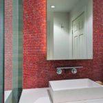 Мозаика в ванной комнате фон для зеркала