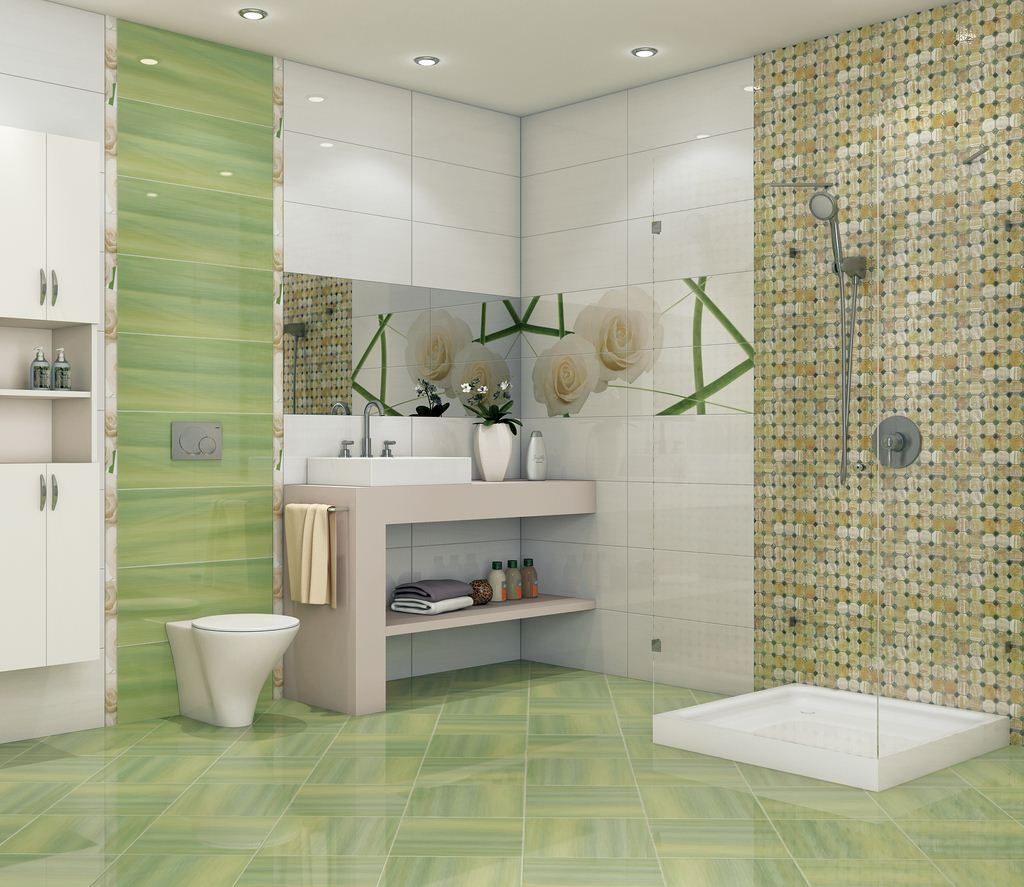 Мозаика в ванной комнате из природного камня