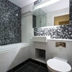 Мозаика в ванной комнате небольшой площади