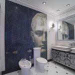 Мозаика в ванной комнате панно в брутальном стиле