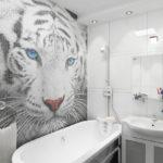 Мозаика в ванной комнате пиксельное панно
