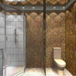 Мозаика в ванной комнате покрывает все стены