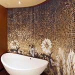 Мозаика в ванной комнате стеклянная