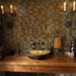 Мозаика в ванной комнате в классическом стиле