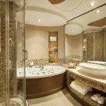 Мозаика в ванной комнате в стиле хай-тек