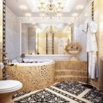 Мозаика в ванной комнате в стиле модерн