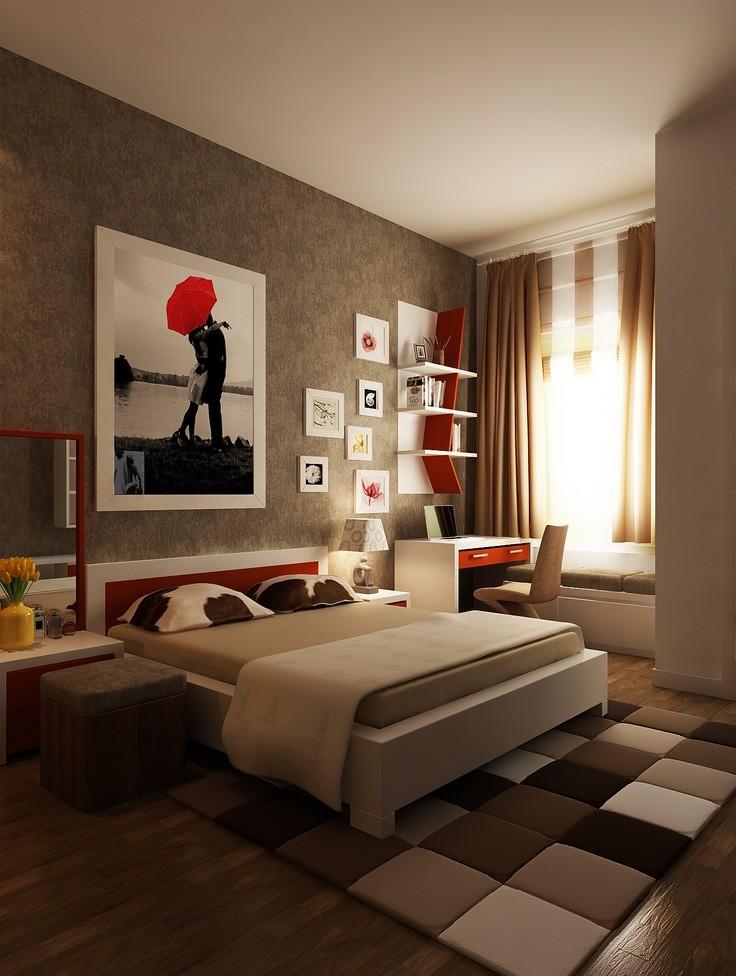 оформление стен в спальне большие фото