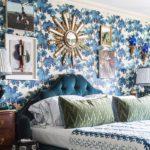 Оформление стен в спальне обоями лесная тема