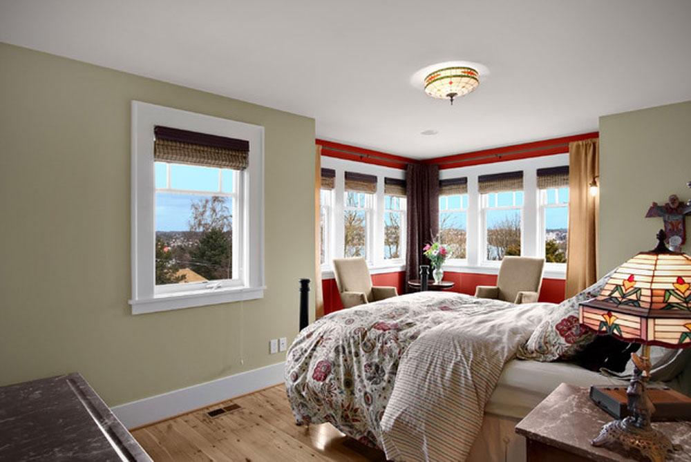 оформление стен в спальне оливковые цвета