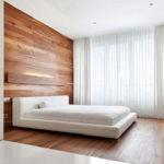 Оформление стен в спальне под обшивку доской