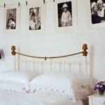 Оформление стен в спальне семейные черно-белые фото