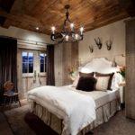 Оформление стен в спальне стиль рустик