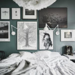 Оформление стен в спальне в стиле фотосюрреализма