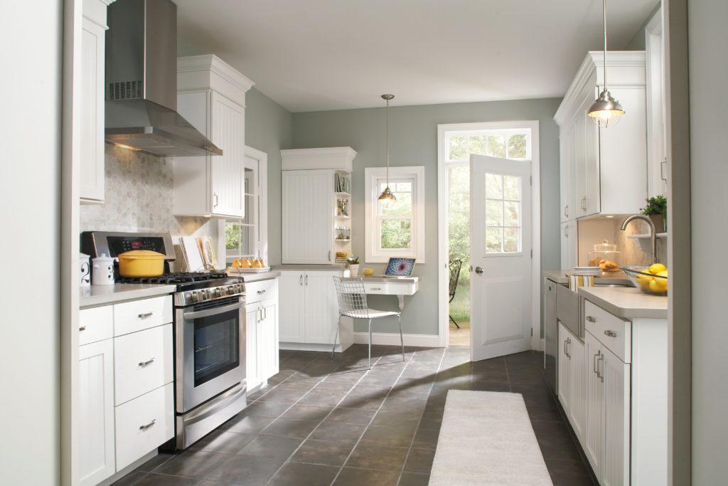 Серая палитра кухни базовый цвет