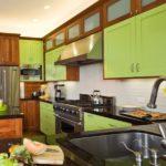 Сочетание цветов интерьер кухни коричневый и салатовый зеленый