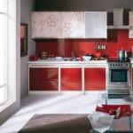 Сочетание цветов интерьер кухни красное на сером