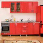 Сочетание цветов интерьер кухни матовый красный на фоне белого