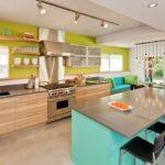 Сочетание цветов интерьер кухни оливковый бирюзовый и светло-коричневый