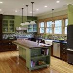 Сочетание цветов интерьер кухни оливковый и коричневый