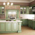 Сочетание цветов интерьер кухни оливковый зеленый и светло-коричневый