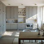 Сочетание цветов интерьер кухни коричневый на сером фоне