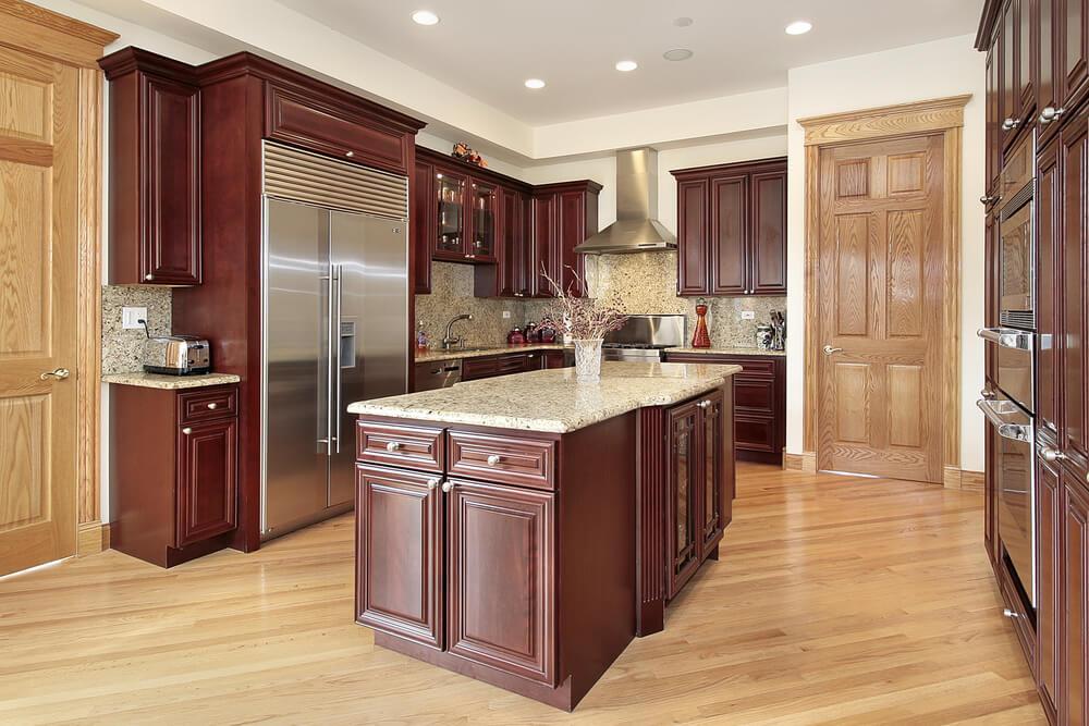 Сочетание цветов интерьер кухни светло-коричневый