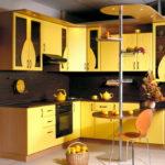 Сочетание цветов интерьер кухни светло желтый на темно-коричневом