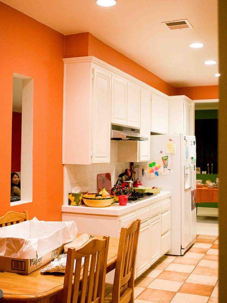 Сочетание цветов интерьер кухни светлый оранжевый