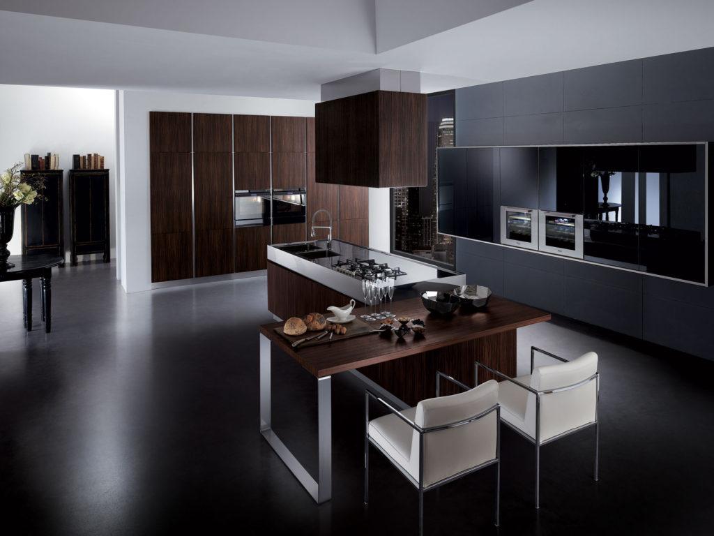 Сочетание цветов интерьер кухни темно-коричневый
